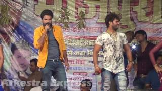 Live Performance   Khesari Lal Yadav VS Ritesh Pandey Stage Show 2016   Bhojpuri Stage Show 2016   Y