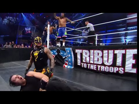 The Shield vs. Rey Mysterio & The Usos Tribute to the Troops 2013