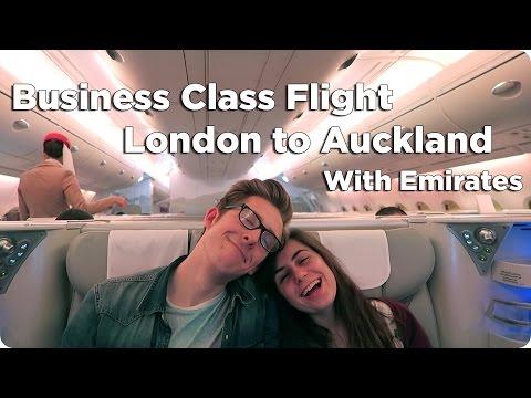 Business Class London to Auckland Evan Edinger Travel