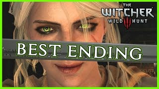Witcher 3 ► THE BEST ENDING - Ciri Becomes a Witcher. Triss Romance