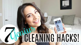 7 Genius Cleaning Hacks From YOU! | Justine Marie