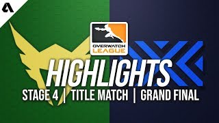 Los Angeles Valiant vs New York Excelsior | Overwatch League Highlights OWL Stage 4 Grand Finals