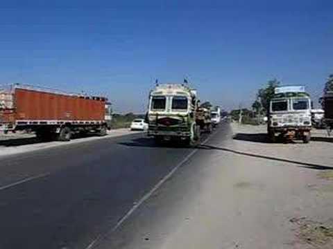 Wegen verkeer Tata Trucks India