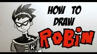 Ep. 104  How to draw Robin from Teen Titans