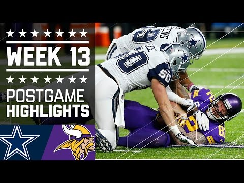 Cowboys vs. Vikings Week 13 Game Highlights NFL