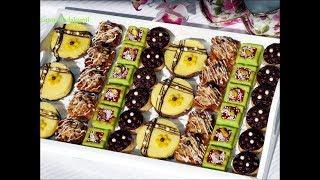 بلاطو حلويات للمناسبات اروع ما يكون طورطات بالحامض+فينانسيي بنكهتين +كنافة بالمكسرات