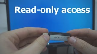 USB Flash Drive - Read Only (Hardware + Software method)