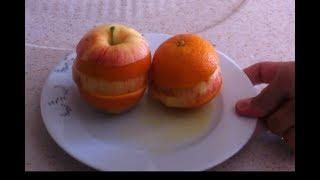 elma ve portakalı kesmenin harika yöntemi