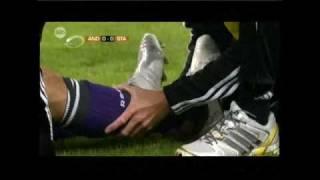 Axel Witsel (Standard) breaks leg of Marcin Wasilewski (Anderlecht)