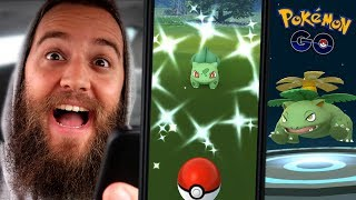 THE SHINY HUNT WAS EASY! (COMMUNITY DAY EVENT) - BULBASAUR - (POKEMON GO)