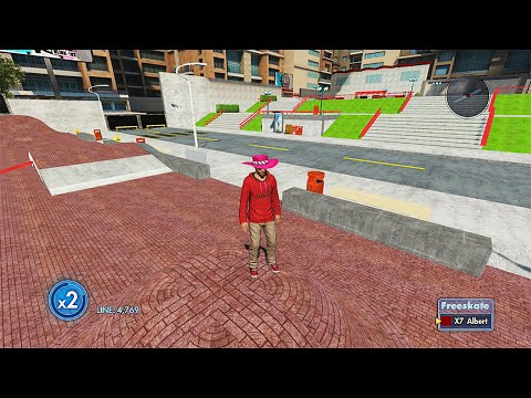 Skate 3 - ONE OF THE BEST TRICKLINE PARKS