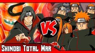 Itachi VS Pain   ¿Quién ganaría? (Sharingan VS Rinnegan)   SHINOBI TOTAL WAR