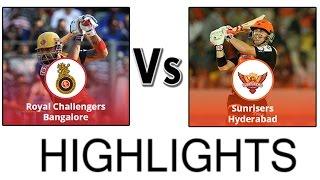IPL 2016 - RCB vs SRH   Match Highlights   IPL 2016 Highlights   Bangalore vs Hyderabad IPL 2016#Pic