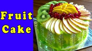 Fruit Cake  - Easy Cake Recipe, Birthday Cake Design & Decoration [Hindi]