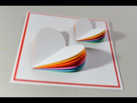 Xxx Mp4 How To Make Valentine S Day Card Rainbow Heart Greeting Card Step By Step Kartka Na Walentynki 3gp Sex