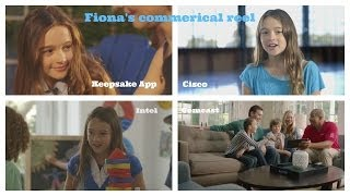 Commerical Reel: Clips of Fiona's work through May 2014