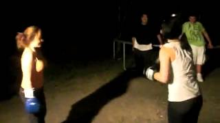 Babe's Back Yard Boxing ; Katie vs Holly
