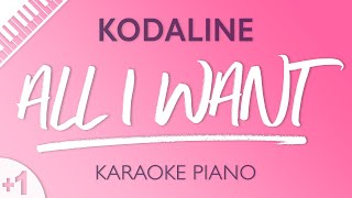 All I Want (HIGHER Piano Karaoke) Kodaline
