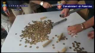 Palermo. monete da 1 e 2 euro coniate in Cina, 12 arresti sequestrato un intero container