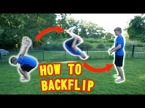 How to do a BACKFLIP on Ground and Trampoline BEST TUTORIAL You can learn in 5 minutes