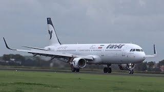 Iran Air - Airbus A321 Sharklets - Lands at AMS Schiphol (EP-IFA)