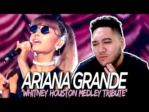 Ariana Grande - Whitney Houston Medley Tribute REACTION!!!