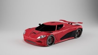 Koenigsegg Agera R | Cinema 4D SpeedArt modeling