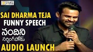 Sai Dharma Teja Funny Speech @ Nandini Nursing Home Audio Launch || Nawin, Nithya- Filmufocus. com