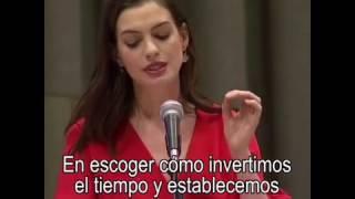Discurso de Anne Hathaway para ONU Mujeres