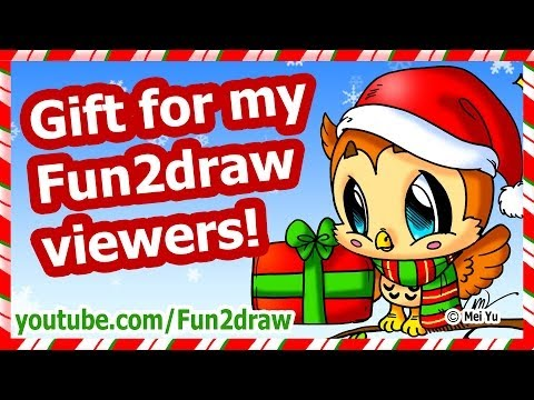 Image of: Cute Pandas Christmas Gift For My Fun2draw Viewers How To Draw Christmas Card Picture Playithub Largest Videos Hub Yiflixcom Christmas Gift For My Fun2draw Viewers How To Draw Christmas
