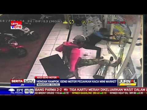 Geng Motor di Makassar Tertangkap CCTV Hendak Merampok Minimarket