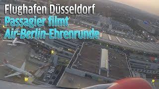 Düsseldorf: Air Berlin Flug AB7001 aus Miami dreht Ehrenrunde über Flughafen