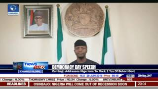 Democracy Day Speech: Osinbajo Addresses Nigerians To Mark 2 Yrs Of Buhari Govt.
