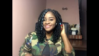 DIY | Short Goddess Locs on  5 Months unwashed CHEBE  HAIR / Brazilian Wool