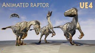 Raptor Dinosaur Animated - UE4 Marketplace
