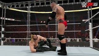 WWE 2K15 Extreme Rules 2015 - Seth Rollins vs Randy Orton - Steel Cage Match! (WWE World Title)