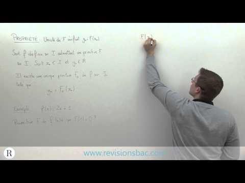 [RévisionsBac.com] - Unique primitive prenant la valeur y0 en x0