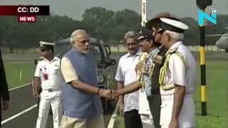 Modi chairs commanders' conference on board INS Vikramaditya