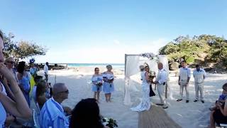 Gold Coast Beach Wedding Ceremony Video in Virtual Reality 360 Degree by Red Tulip Photography