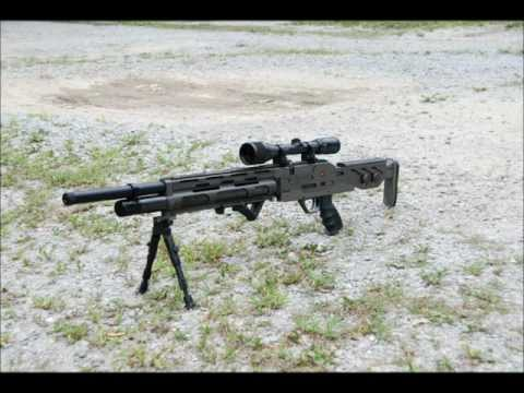 EVANIX GTK 290,  semi-ful auto PCP air rifle .wmv