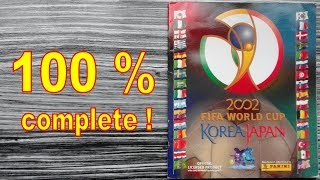 "Panini Album ""FIFA World Cup Korea Japan 2002"" - 100 % COMPLETE / FULL"