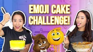 HUGE EMOJI MOVIE CAKE CHALLENGE!   Caleon Twins