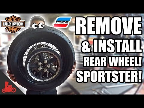 Download Lagu How To Remove & Install REAR WHEEL + Tire Change! - Harley Sportster! MP3