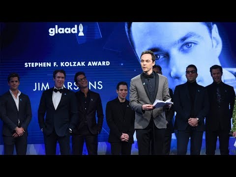 Jim Parsons honored by Ryan Murphy cast mates 29th Annual GLAAD Media Awards