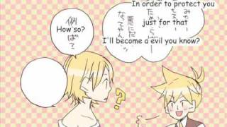 Servant of Evil ~Happy Ver.~ English Lyrics 【Kagamine Rin/Len】【VOCALOID PV】
