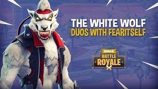 The White Wolf!! Fortnite Battle Royale Gameplay - Ninja & FearItSelf