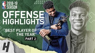 Giannis Antetokounmpo BEST MVP Highlights from 2018-19 NBA Season! BEST PLAYER IN THE WORLD? Part 2