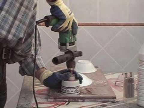 taladrar vaso porcelana drilling porcelain