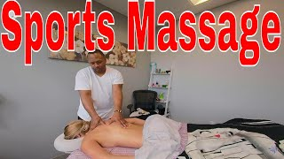 Sports Massage Techniques, Post Recovery Massage with Fire Cupping for Low Back & Hip Pain Trailer.