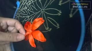 Tranh thêu ruy băng Nga - hướng dẫn làm hoa lan